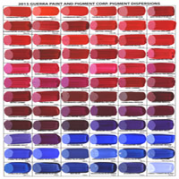 Handmade Pigment Dispersion Color Chart (3 pages)