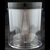 Clear Thick-Walled Styrene Jar 16oz