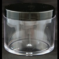 Clear Thick-Walled Styrene Jar 4oz